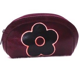Porte monnaie Macha Aria fleur choco