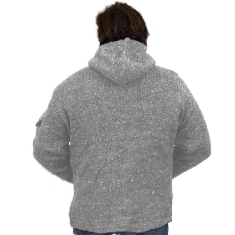 Veste kamet gris clair 100 laine - Vetement ethnique discount ...