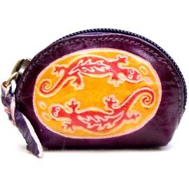 Porte monnaie Macha Art 2Gecko violet