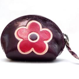 Porte monnaie Macha Art fleur choco