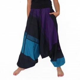 Sarouel ethnique Tinga bleu et violet