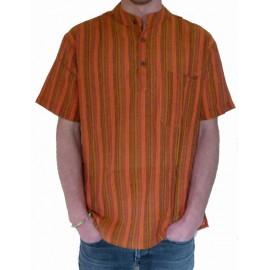 Chemisette coton orange