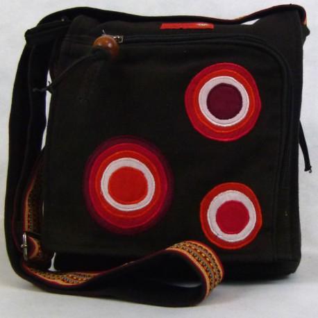 Sac bandoulière Macha ethnique Bala noir