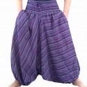 Sarouel ethnique Rika violet