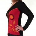T-shirt ethnique Suzi rouge manches longues