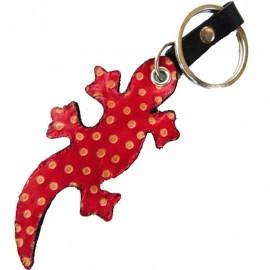 Porte clés Macha Gecko rouge et noir
