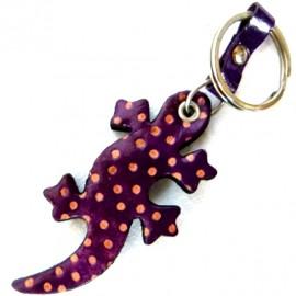 Porte clés Macha Gecko violet et vert