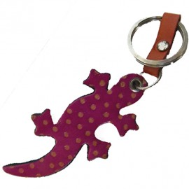 Porte clés Macha Gecko fushia et orange