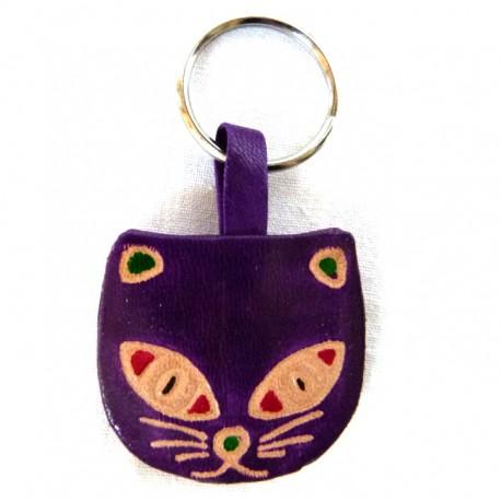 Porte-clés Macha chat violet
