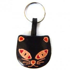 Porte-clés Macha chat noir