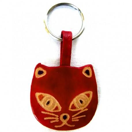 Porte-clés Macha chat rouge