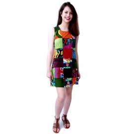 Robe ethnique Patchwork