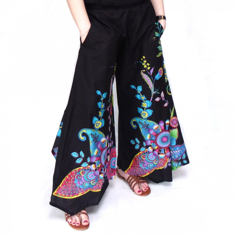 V tement ethnique pantalon vanua noir macha baba cool hippie chic - Vetements hippie baba cool ...