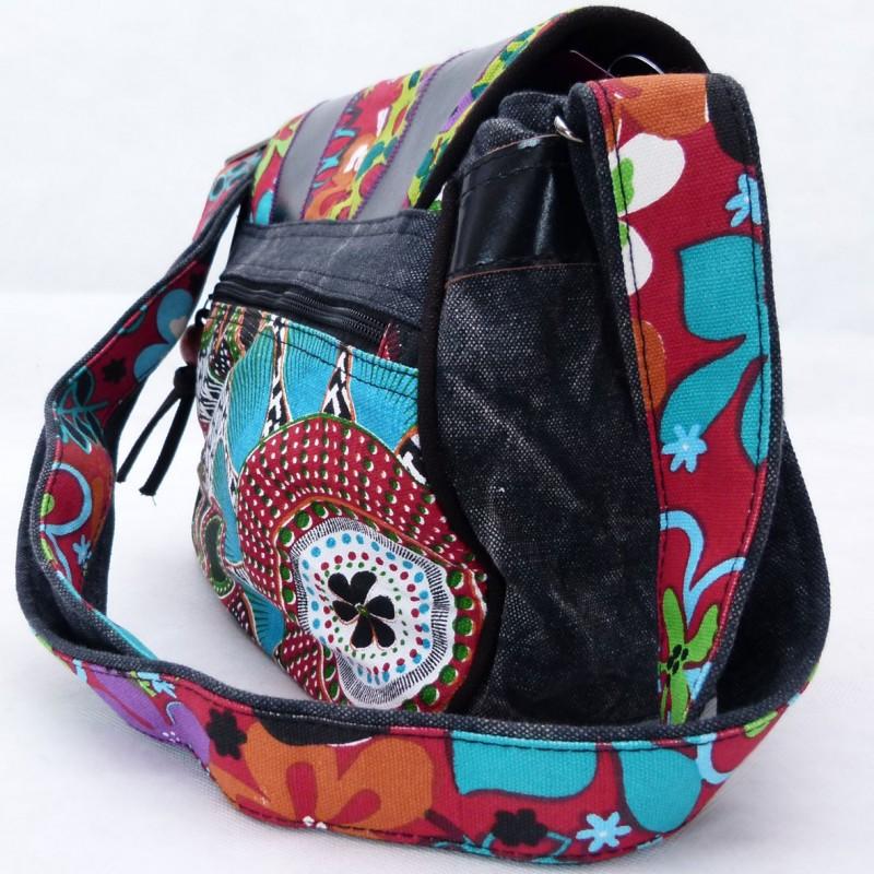 b8b14ec7b8 sac,ethnique,bandoulière,macha,pas cher,cuir,noir,cuir,coton, karnabi