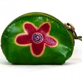 Porte monnaie Macha Art fleur vert