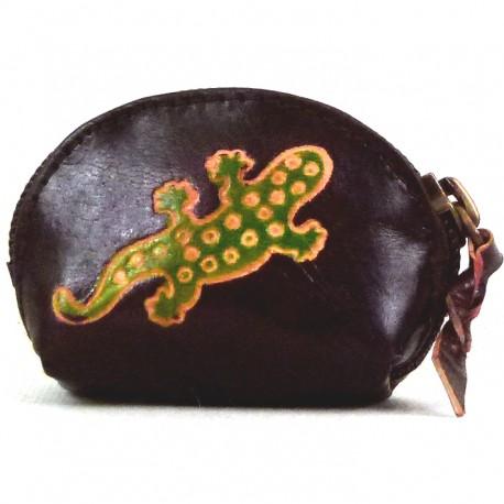 Porte-monnaie Macha Art gecko choco