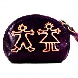 Porte monnaie Macha Art personnages violet