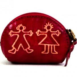 Porte monnaie Macha Art personnages rouge
