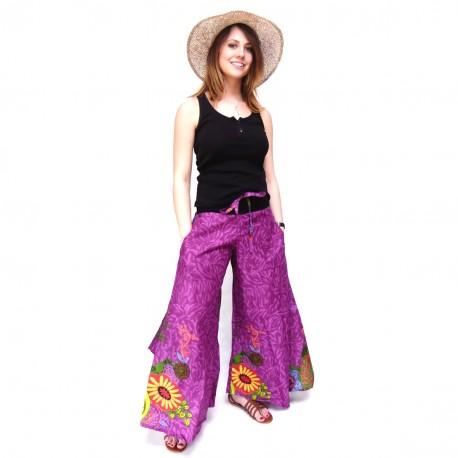 Pantalon ethnique Vanua fushia