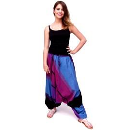 Sarouel ethnique Tinga bleu et violet 2