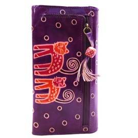 Porte-chéquier Macha chats violet