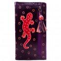 Porte-chéquier Macha Gecko violet