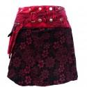 Jupe Portefeuille courte noire et rouge