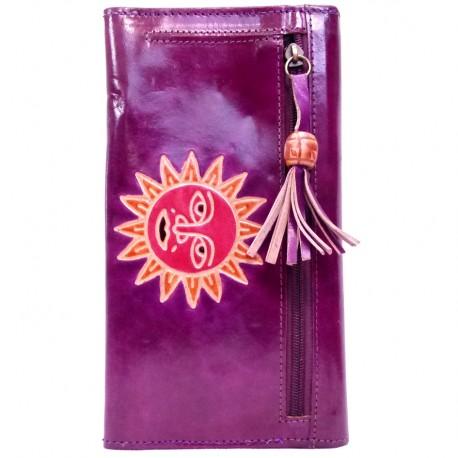 Porte-chéquier Macha soleil violet