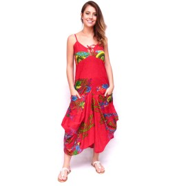 Robe sarouel Jasyprint rouge