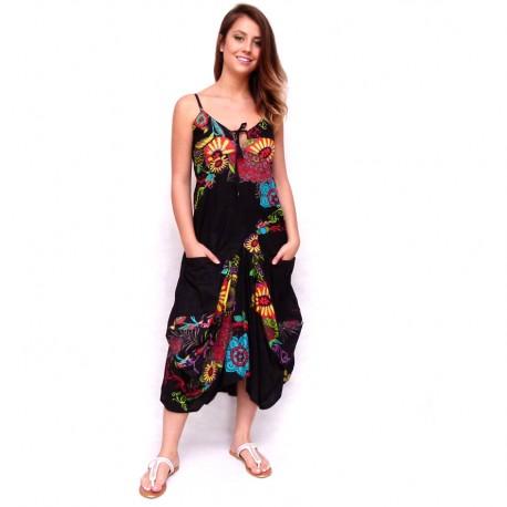 Robe sarouel Jasyprint noire