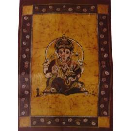 Tenture ethnique Ganesha ocre