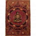 Tenture ethnique indienne Boudha lotus