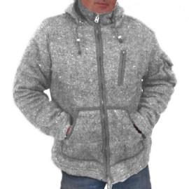 veste ethnique Kamet gris clair
