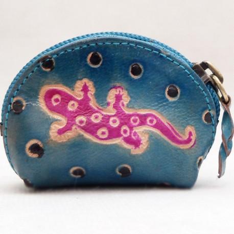 Porte monnaie Macha Art Gecko bleu