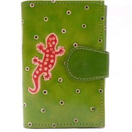 Portefeuille Macha gecko vert et orange