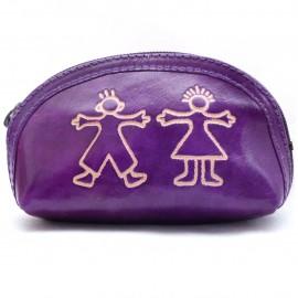 Porte monnaie Macha Aria personnages violets
