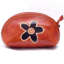 Porte monnaie Macha Aria fleur orange