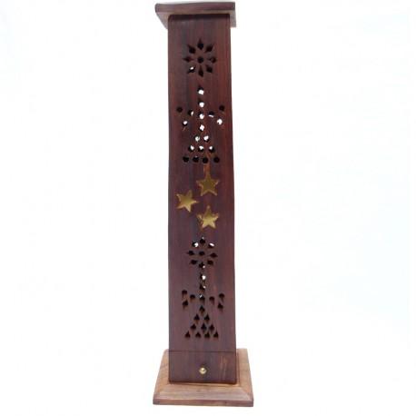Porte encens tour en bois
