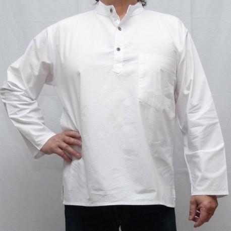 Chemise indienne ethnique coton blanche