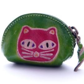 Porte monnaie Macha Art chat vert