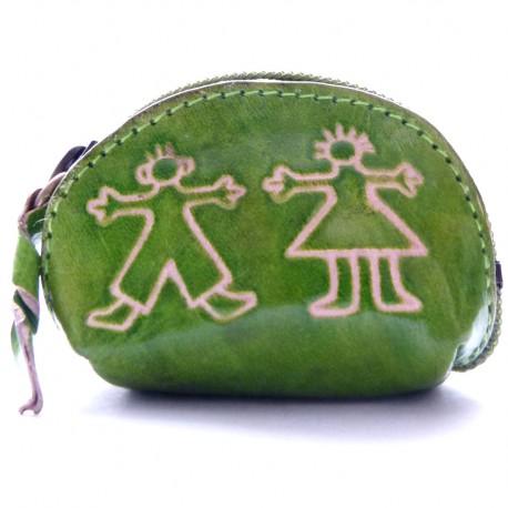 Porte monnaie Macha Art personnages vert