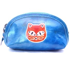 Macha Porte monnaie Aria bleu chat