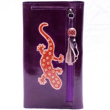 Porte-chéquier Macha Gecko violet2