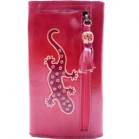 Porte-chéquier Macha Gecko rouge