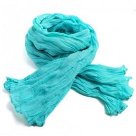 Chèche coton Macha turquoise
