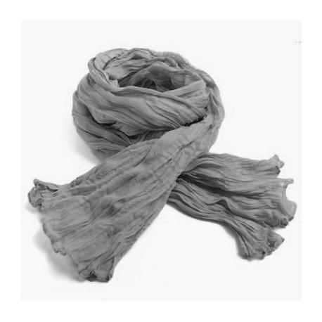 Chèche coton Macha gris