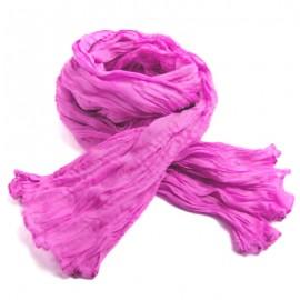 Chèche coton Macha rose fushia