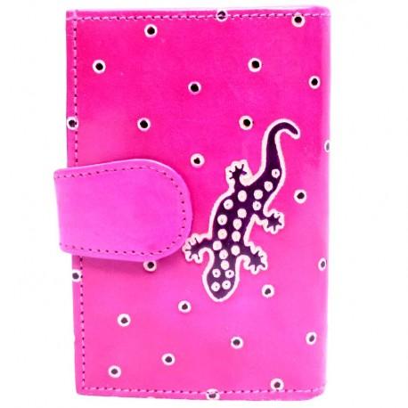 Portefeuille Macha fushia gecko