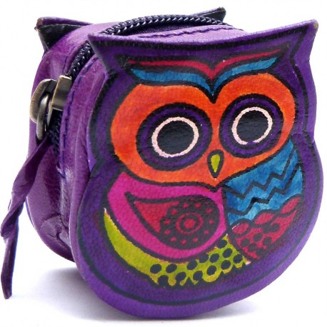 Porte monnaie Macha chouette violet