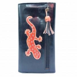 Porte-chéquier Macha Gecko noir